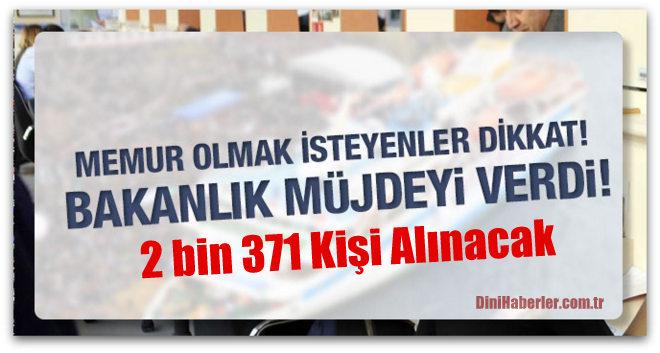 https www dinihaberler com tr haber adalet bakanligi 2 bin 371 memur alacak 53150