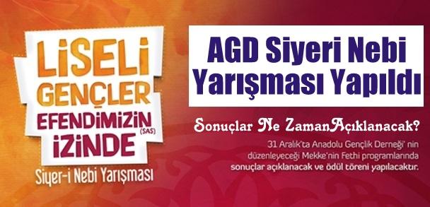 AGD Siyeri Nebi Yarışması Yapıldı