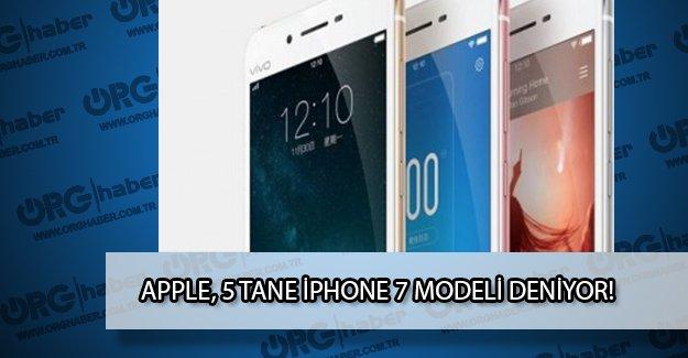 Apple beş farklı iPhone 7 modeli deniyor!
