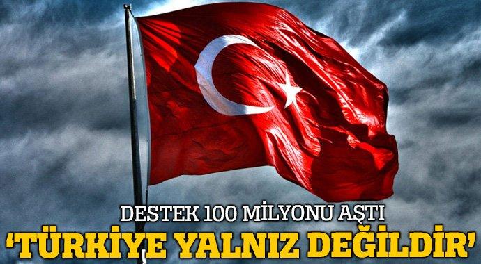 Arapça \'Türkiye\' etiketine destek 100 milyonu aştı