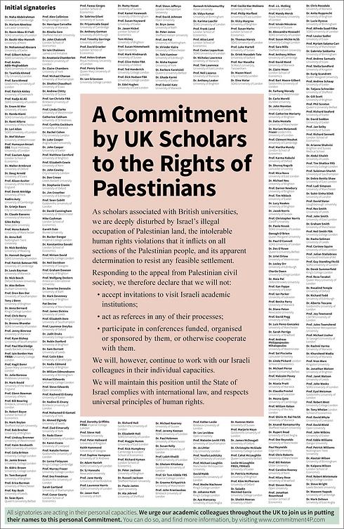 İngiltereli akademisyenlerden İsrail'e kınama