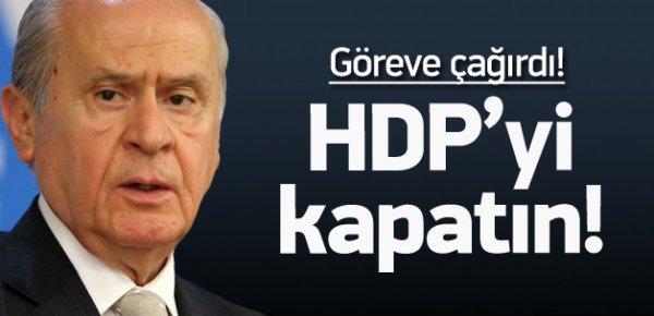 Bahçeli, HDP'nin kapatılmasını istedi