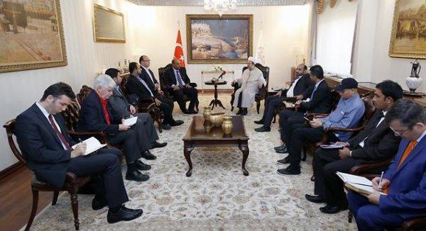 Bahreynli gazeteciler Diyanet İşleri Başkanı Görmez'i ziyaret etti…
