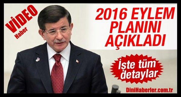 Başbakan Davutoğlu 2016 Eylem Planı\'nı açıkladı