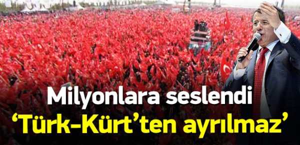 Başbakan Davutoğlu mitingde konuştu
