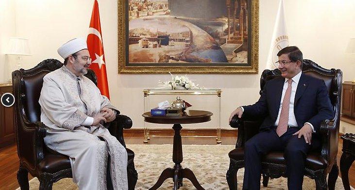 Başbakan Davutoğlu'ndan Başkan Görmez'e hayırlı olsun ziyareti