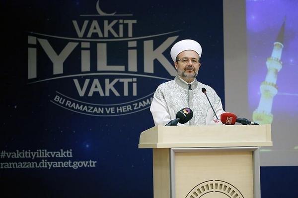 Başkan Görmez, Ramazan ayı münasebetiyle basın toplantısı düzenledi.