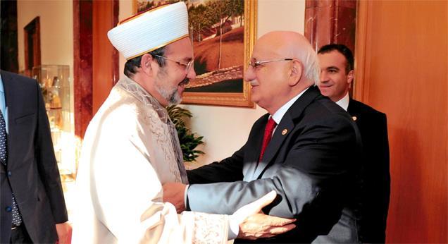 Başkan Görmez'den TBMM Başkanı Kahraman'a nezaket ziyareti…
