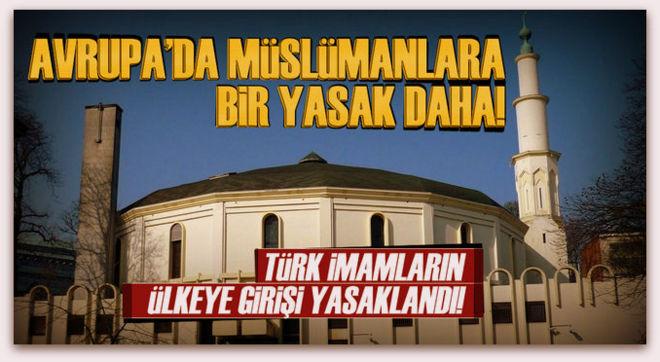 Belçika\'dan Türk imamlara vize engeli