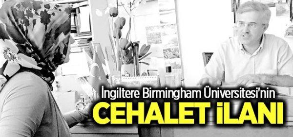 Birmingham Ünivetsitesi'nden cehalet ilanı