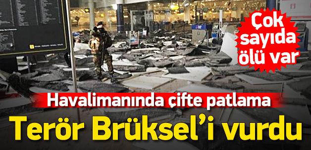 Brüksel\'de havalimanında üst üste 2 patlama