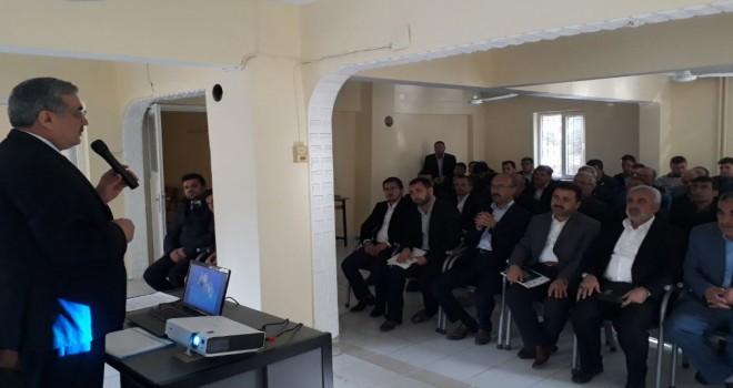 Kahramanmaraş İl Müftüsü, Pazarcık'da din görevlileriyle toplantı yaptı
