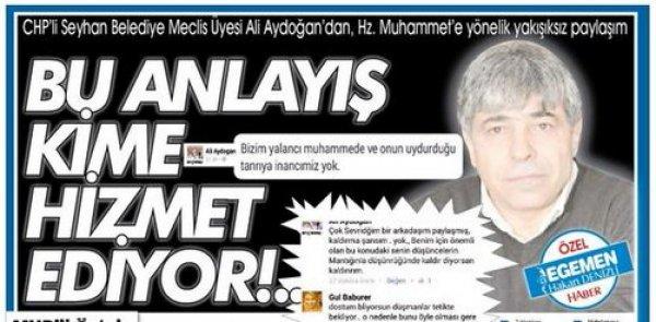 CHP'li Av.Ali Aydoğan, Peygamberimizle alay etti