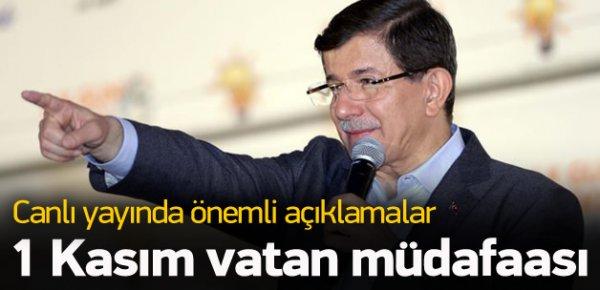 Davutoğlu, 1 Kasım vatan müdafaası