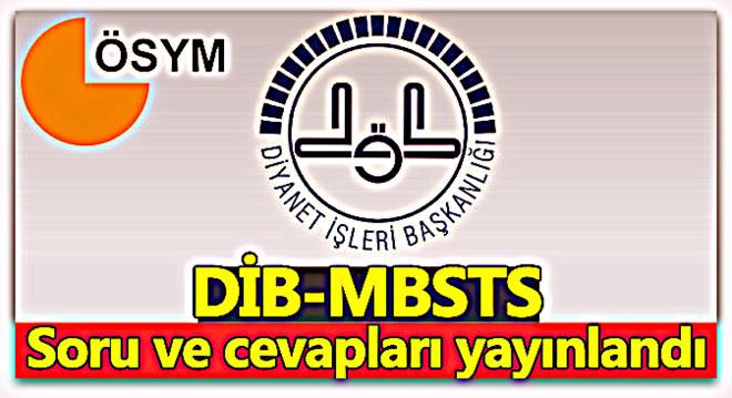 DİB-MBSTS Sınavı Sınav Duyurusu