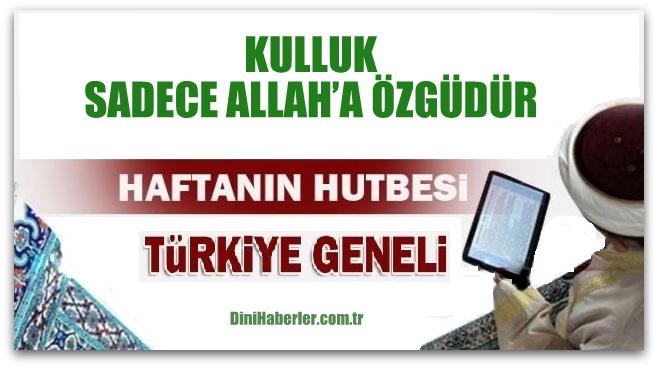 Diyanet 05.08.2016 Tarihli Cuma Hutbesi okunacak hutbe..