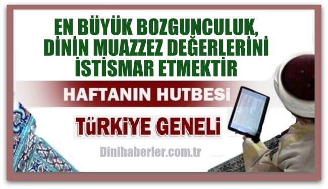 Diyanet 29.07.2016 Tarihli Cuma Hutbesi okunacak hutbe..