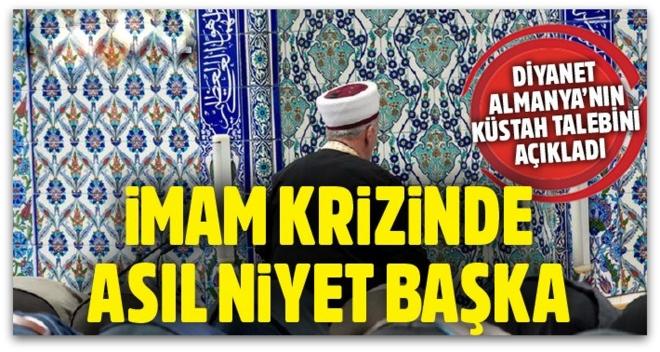 Almanya imamların Türkiye\'den gönderilmemesini istiyor