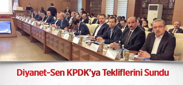 Diyanet-Sen KPDK'ya Tekliflerini Sundu