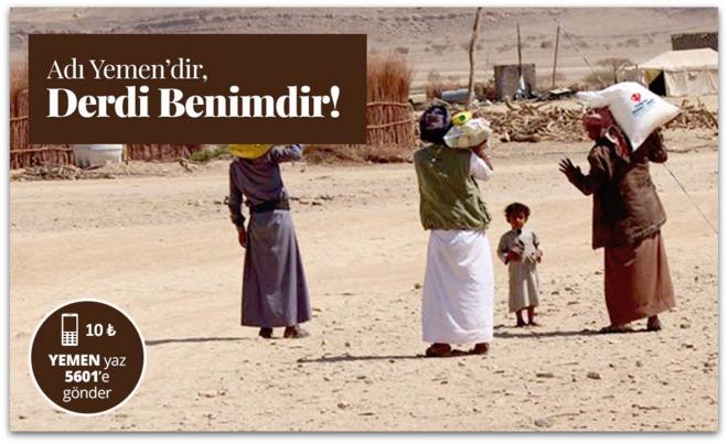 """Diyanet Vakfı'ndan """"Adı Yemen'dir, Derdi Benimdir"""" kampanyası"""