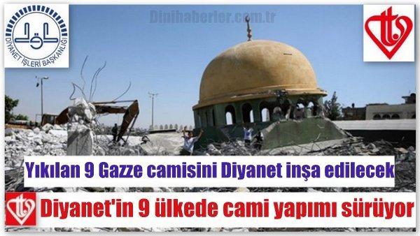 Diyanet'in 9 Ülkede Cami Yapımı Devam Ediyor