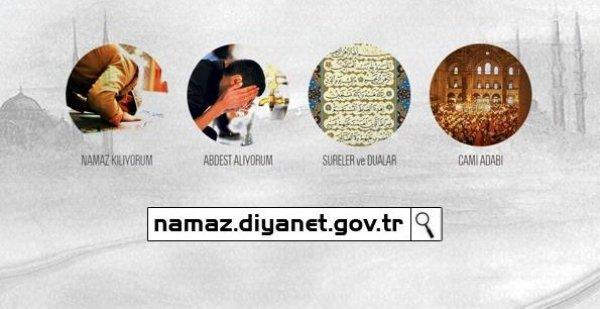 Diyanet'ten Namaz'a Özel İnternet Sitesi