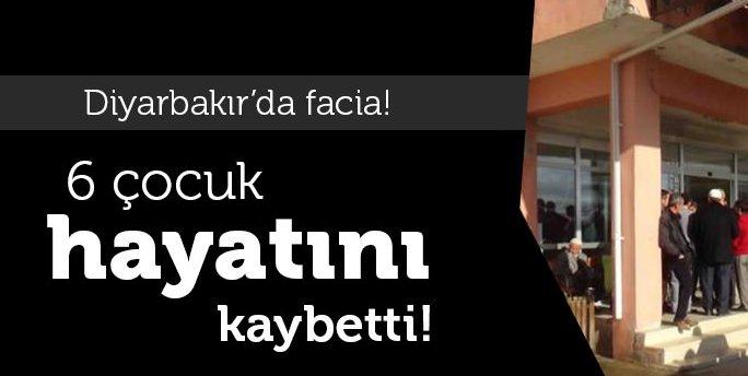 Diyarbakır\'da facia: 6 çocuk yanarak öldü