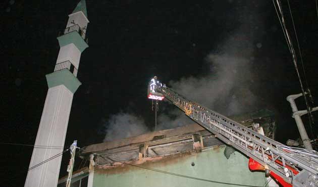 Çatalca'da camide büyük yangın