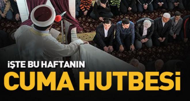 Diyanet 04.10.2019 Tarihli Cuma Hutbesi