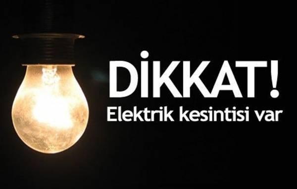 Elektrik Kesileceği İlçeler Belli Oldu