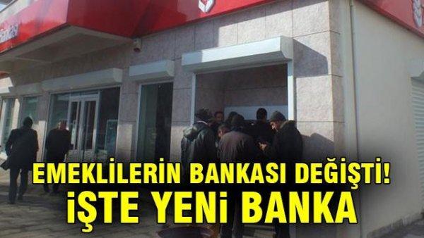 Emeklilerin bankası değişti! İşte yeni banka