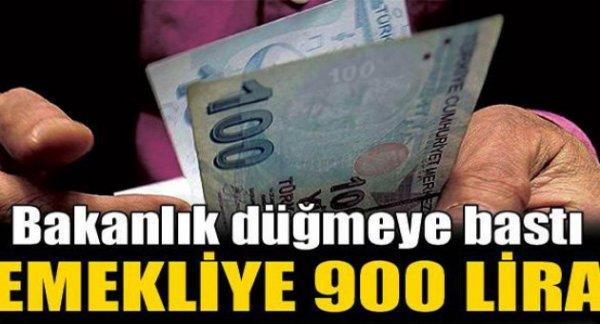 Emekliye 900 lira ek gelir