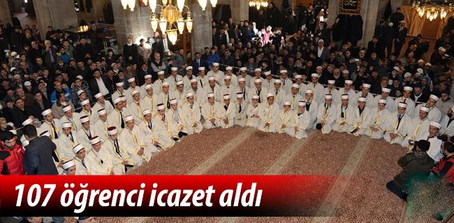 Erzurum\'da 107 öğrenci icazet aldı