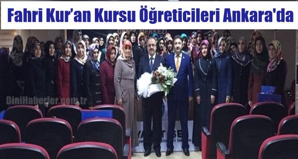 Fahri Kur'an Kursu Öğreticileri Ankara\'da