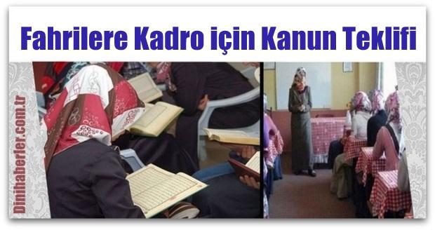Fahrilere Kadro için Mhp\'den Kanun Teklifi