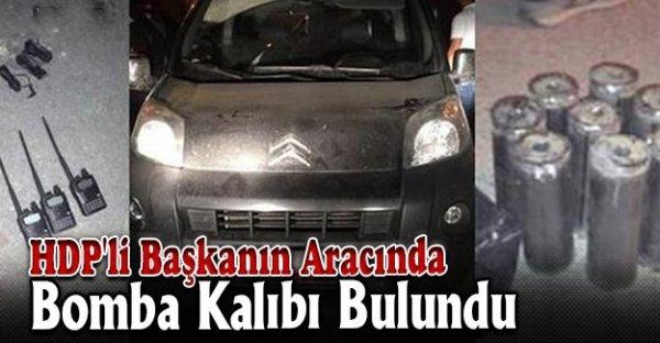 HDP'li başkanın aracından bomba malzemesi çıktı