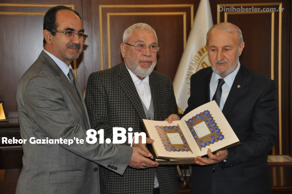 Hediyem Kur'an Olsun\'a Gaziantep\'ten 81 Bin Kur\'an