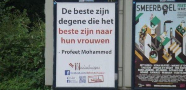 Hollanda'da Hadis-i Şerifli afişler Dikkat Çekiyor