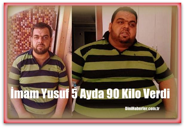 imam Yusuf Kaklık tüp mide ameliyatıyla 5 ayda 90 kilo verdi.