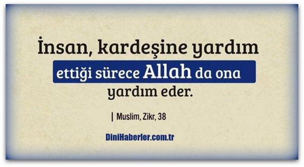 Kardeşine Yardım Edene Allah\'da Yardım Eder