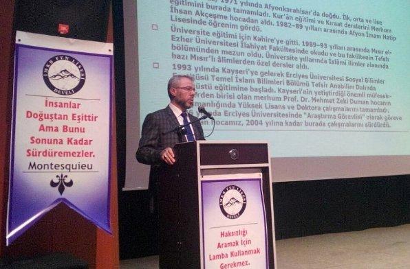 Kayseri İl Müftüsünden Develide İnsan Hakları Konferansı