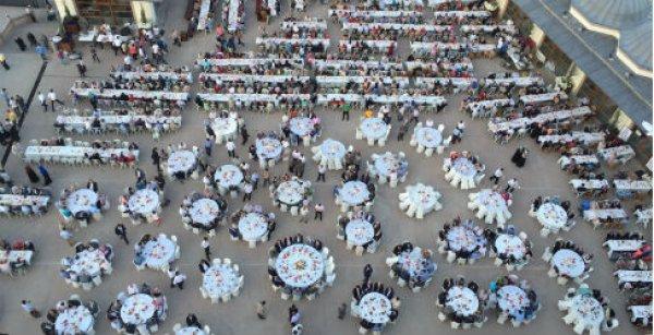 Kırıkkale Nur Cami Külliyesi'nde iyilik sofrası kuruldu