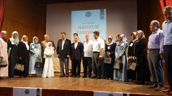 Kız Öğrenciler Hafızlık Yarışması Türkiye Finali Edirne´de yapıldı