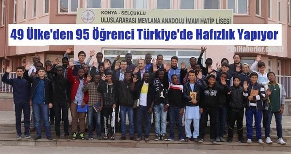 Konya'da 49 ülkeden gelen öğrenciler hafızlık eğitimi alıyor