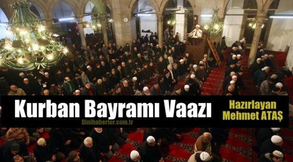 Kurban Bayramı Vaazı - Mehmet ATAŞ