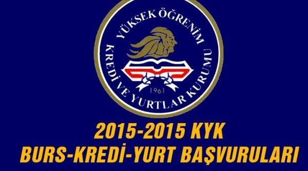 KYK kredi başvurusu, KYK yurt, burs başvuru formu - 2015