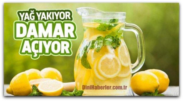 Limonlu su ile gelen sağlık