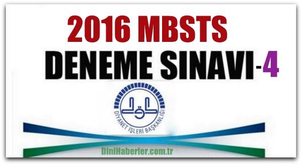 MBSTS Deneme Sınavları 4