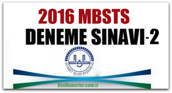 MBSTS Deneme Sınavları 2