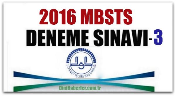 MBSTS Deneme Sınavları 3